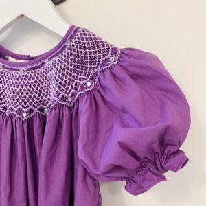 Other - Gorgeous Purple Smocked Bishop Dress